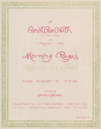PANDIT PRAN NATH MORNING RAGAS, 1978