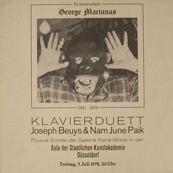 KLAVIERDUETT: IN MEMORIAM GEORGE MACIUNAS