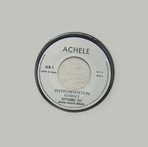 INSTRUMENTATION VERBALE, SEPTEMBRE 1963