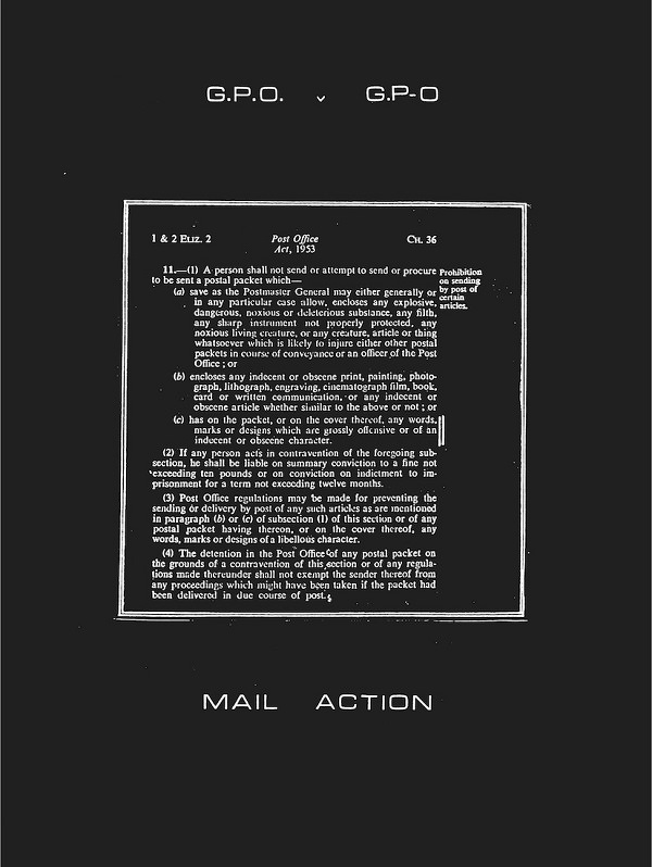 G.P.O. VERSUS G.P-O: A CHRONICLE OF MAIL ART ON TRIAL