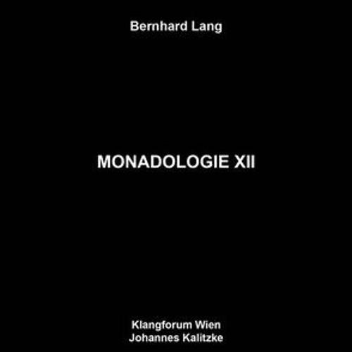 MONADOLOGIE XII (LP)