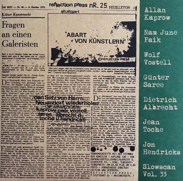 wolf vostell - nam june paik - allan kaprow - albrecht d - Abart von Kunstlern