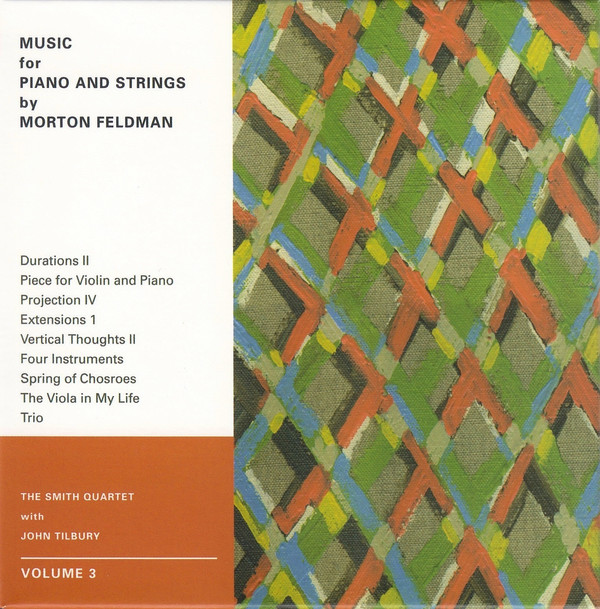 MUSIC FOR PIANO AND STRINGS BY MORTON FELDMAN. VOLUME 3
