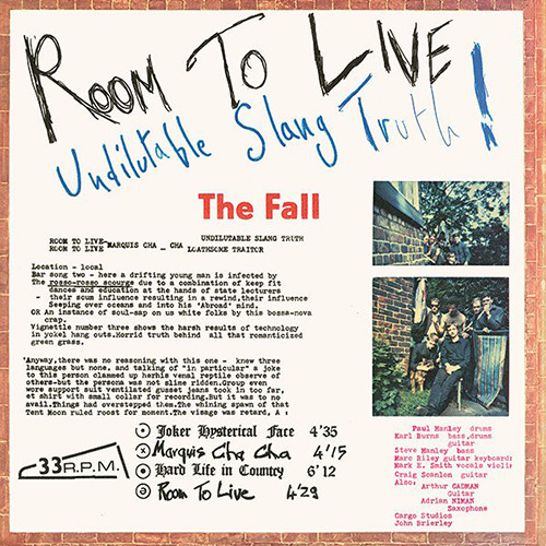 ROOM TO LIVE (LP)