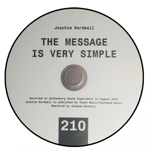 joachim nordwall - The message is very simple