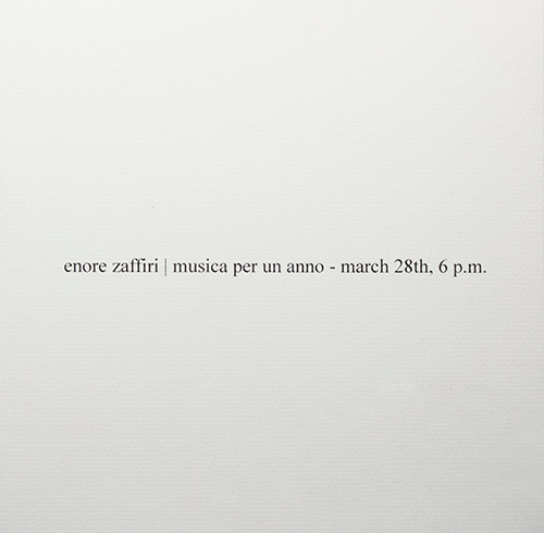 enore zaffiri - Musica per un Anno (March 28th, 6 pm)