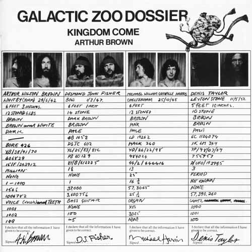 arthur brown - Galactic Zoo Dossier