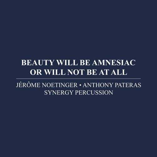synergy percussion - jérôme noetinger - anthony pateras - Beauty Will Be Amnesiac Or Will Not Be At All