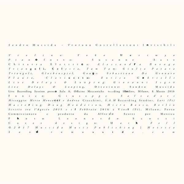 sandro mussida - Ventuno Costellazioni Invisibili