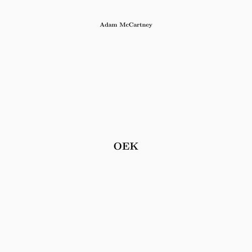 adam mccartney - Oek (Lp)