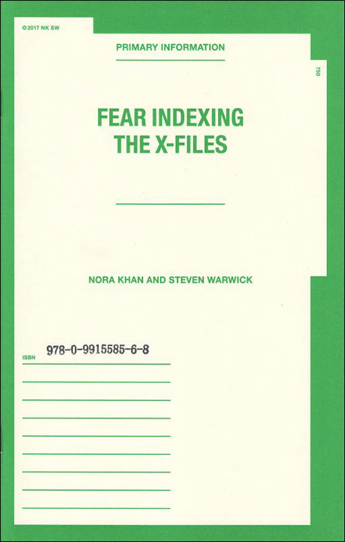 steven warwick - nora khan - Fear Indexing The X-Files