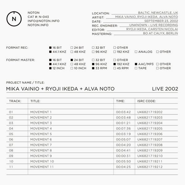 LIVE 2002 (LP)