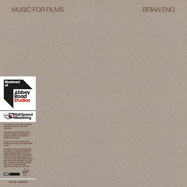 MUSIC FOR FILMS  (2LP, HALF-SPEED MASTER)