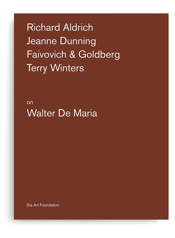various - Artists on Walter De Maria