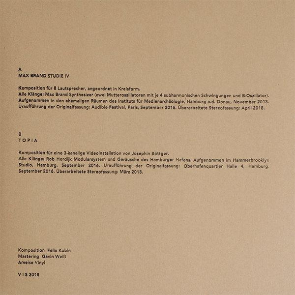 MAX BRAND STUDIE IV (LP)