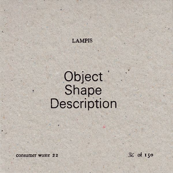 OBJECT SHAPE DESCRIPTION (CD)