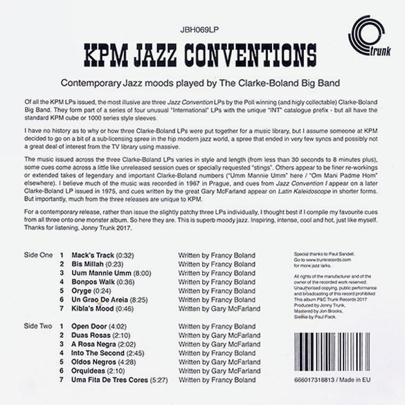 KPM JAZZ CONVENTIONS (LP)