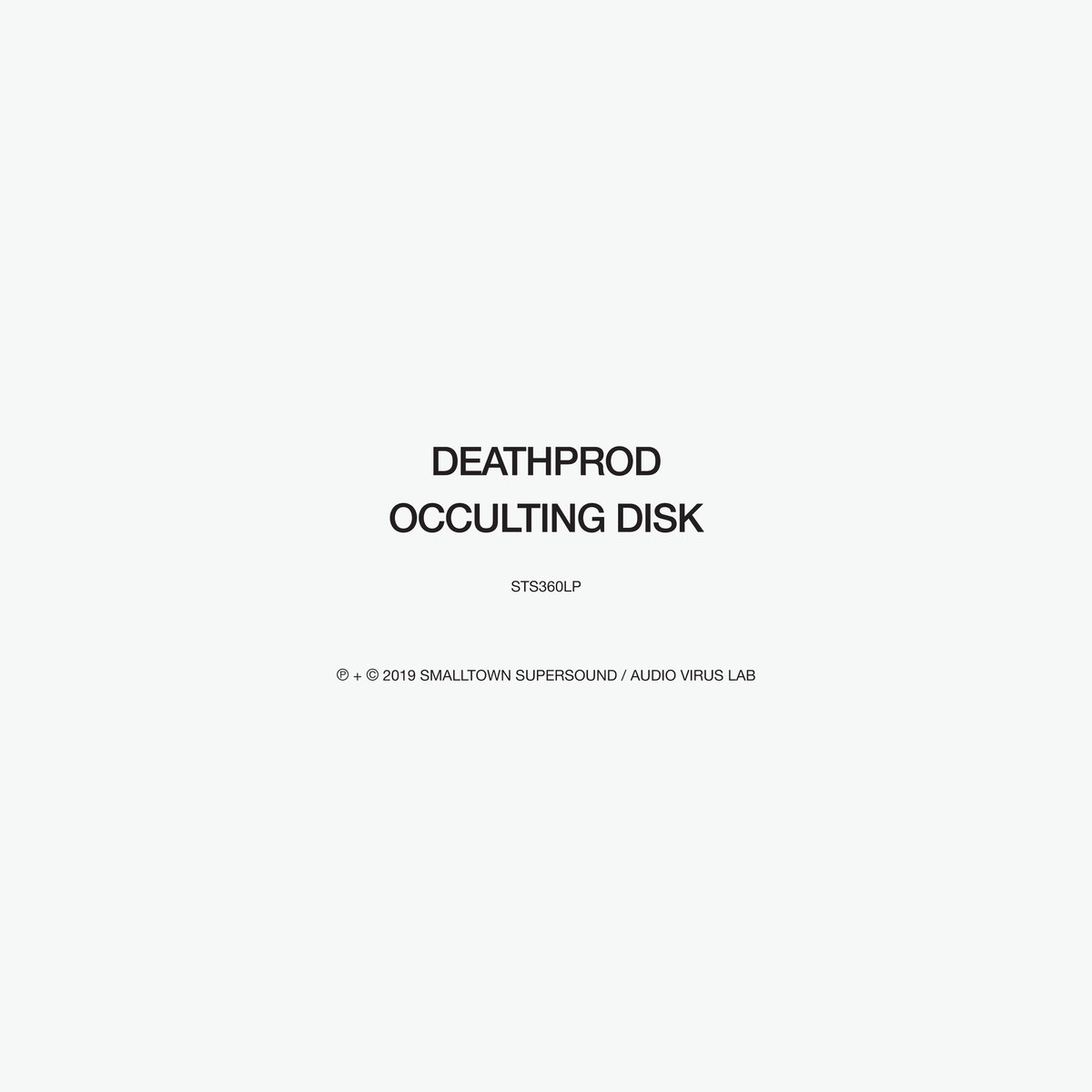 OCCULTING DISK (2LP)