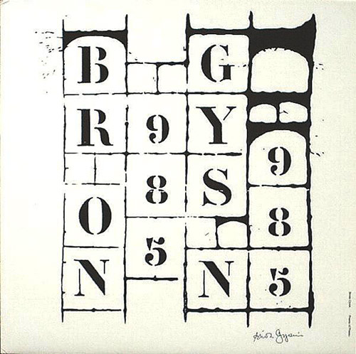 brion gysin - Poems of poems