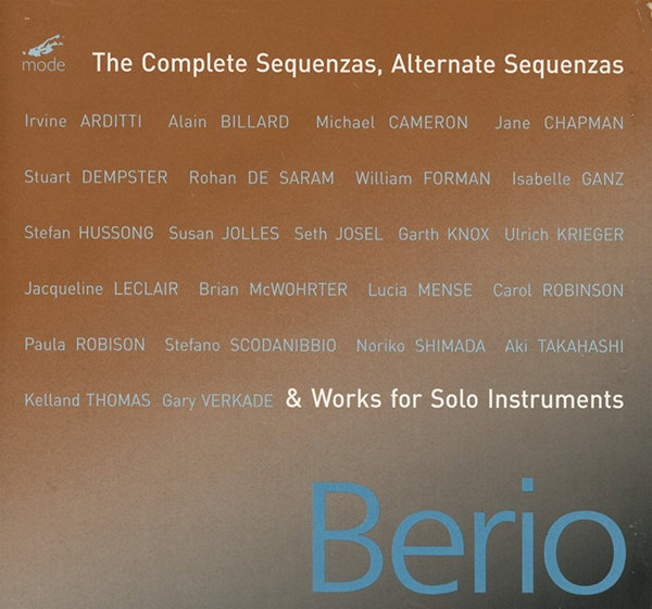 THE COMPLETE SEQUENZAS, ALTERNATE SEQUENZAS (4 CD BOX)