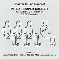 SPOKEN MUSIC CONCERT AT PAULA COOPER GALLERY FORMAT