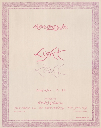 marian zazeela - la monte young - Light, 1978
