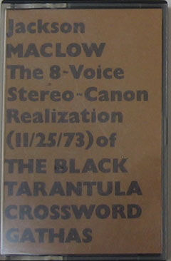 THE 8-VOICE STEREO-CANON REALIZATION (11/25/73) OF THE BLACK TAR