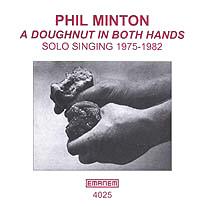 A doughnut in both hands